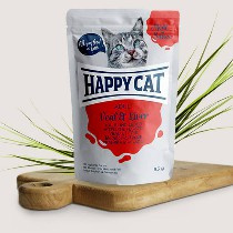 Happy Cat Meat in Sauce Adult Kalb/Leber 85gr