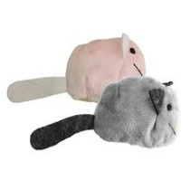 Crazy Cat Fat Mouse vol met Catnip Roze