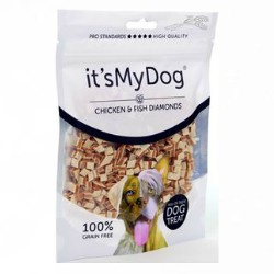 It's My Dog Chicken & Fish Diamonds  85gr