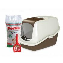 PeeWee Startpakket EcoHus Bruin/Ivoor