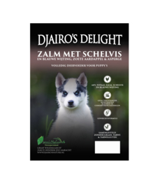 Djairo's Delight Puppy Zalm met Schelvis,  2kg