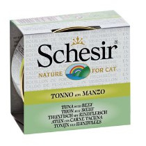 Schesir Cat Broth Tuna & Beef 70gr