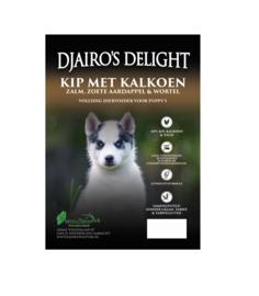 Djairo's Delight Puppy Kip met kalkoen en zalm,  2kg