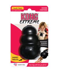 Kong hond Extreme rubber S, zwart.