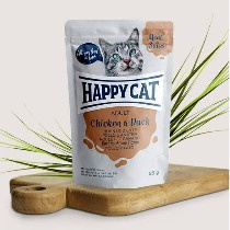 Happy Cat Meat in Sauce Adult Hunn/Ente 85gr