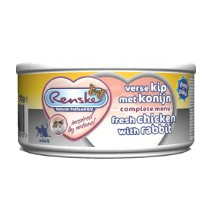 Renske Vers Vlees Kat Kip/Konijn 70gr