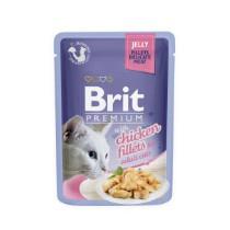 Brit Cat Pouch met Kip stukjes in Jelly 85gr