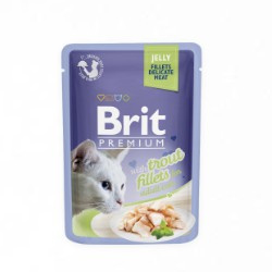 Brit Premium Cat Pouch Trout Fillets in Jelly for Adult Cats 85gr