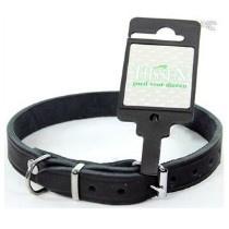 Halsband Vetleer Zwart 12mm 30cm