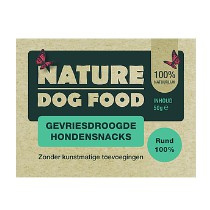 Nature Dog Food Gevriesdroogde Snacks 100% Rund 50gr