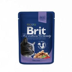Brit Premium Cat Pouches with Cod Fish 100gr