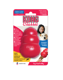 Kong hond Classic rubber M, rood.