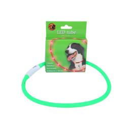 LED tube verstelbaar 20-70 cm groen, USB oplaadbaar.