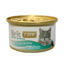 Brit Care Cans Cat Kitten Chicken 80gr