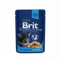 Brit Premium Cat Pouches Chicken Chunks for Kitten 100gr