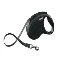 Flexi Rollijn Tape S Zwart 5Meter