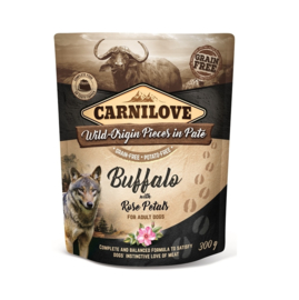 Carnilove Pouch Buffalo with Rose Petals 300gr