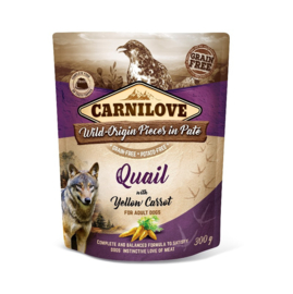 Carnilove Pouch Quail with Yellow Carrot 300gr