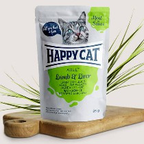 Happy Cat Meat in Sauce Adult Lamm/Leber 85gr
