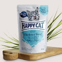 Happy Cat Meat in Sauce Adult Hunn/Forelle 85gr