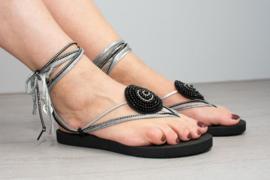 slipper low black
