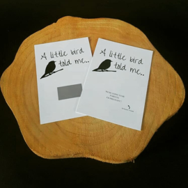 Kraskaart ''A little bird told me''