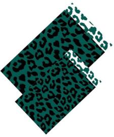 Cadeauzakje - Cheetah - groen/zwart