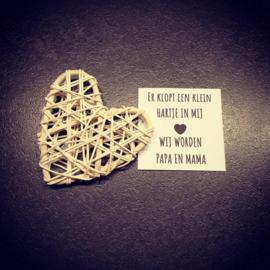 A tiny heart - Wij worden papa en mama