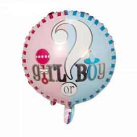 Gender reveal ballonnen