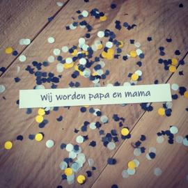 Ballonkaart - Wij worden papa en mama