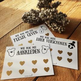 Setje van 3 kraskaarten