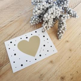 """Kraskaart hart """"Jullie worden opa en oma"""""""