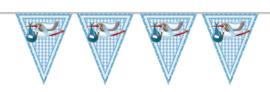 Vlaggenlijn ooievaar -blauw