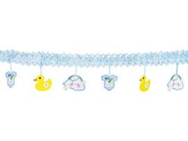 Slinger met hang decoratie - blauw
