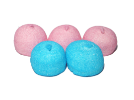 Spekbollen blauw-roze
