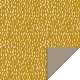 Cadeauzakje - Sparkles - Yellow - Taupe