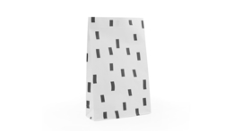 Blokzakje - confetti - wit/zwart