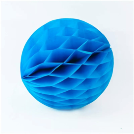 Honeycomb ball  - blauw