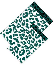 Cadeauzakje - Cheetah -  groen/wit