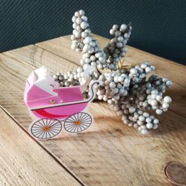 Kinderwagen doosje - roze