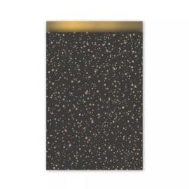 Cadeauzakje -Twinkling stars - zwart/goud