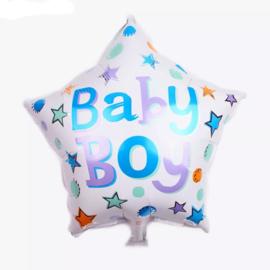 Folieballen ster - baby boy