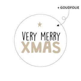 Sticker - kerst - very merry xmas