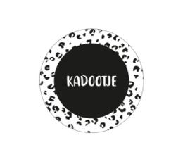 Sticker - Kadootje panterprint zwart/wit