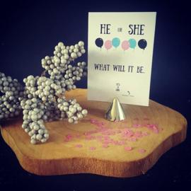 Kraskaart ''He or She'' - meisje