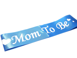 Sjerp mom to be - blauw