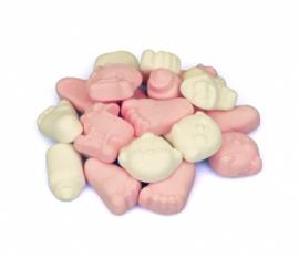 Schuimpjes roze-wit