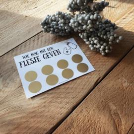 Kraskaart ''Wie mag mij een flesje geven''