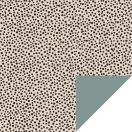 Cadeauzakje - Black Dots - Beige