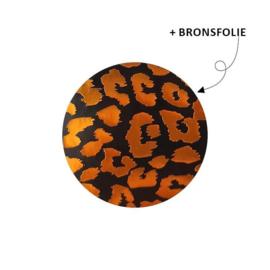 Sticker - Cheetah - Zwart met bronsfolie